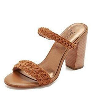 JOIE Alexus braided tan brown sandal heels
